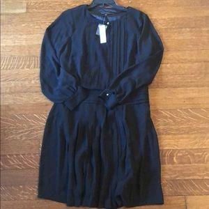 WHBM NWT Black Pleated Soft Dress